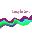 violet purple green blue 3d curves abstract vector image vector image