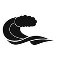wave composition icon simple black style vector image vector image