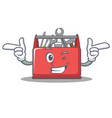 wink tool box character cartoon vector image