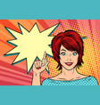 beautiful woman points vector image