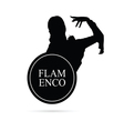 flamenco girl silhouette vector image