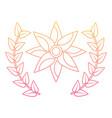 flower wreath floral decoration ornament vector image