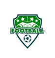football soccer club sport badge ball icon vector image