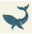 Silhouette of whale Template for labels vector image