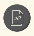a bundle of papers with graphs a round vector image vector image