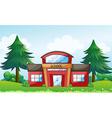 A red school building vector image vector image