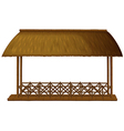 A wooden floating cottage vector image vector image