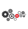 abstract cogs gears vector image vector image