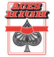 Aces high vector image vector image