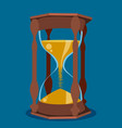 beautiful hourglass on blue background vector image