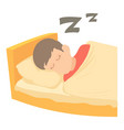 boy sleeping icon cartoon style vector image