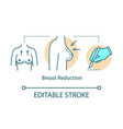 breast reduction concept icon vector image vector image