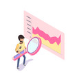 chart with horizontal scale on rectangle vector image vector image