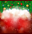 christmas background in red vector image vector image