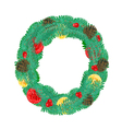 Christmas Wreath with pine cones vector image vector image