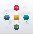 circle infographic template with five steps vector image