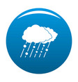 cloud rain snow icon blue vector image vector image