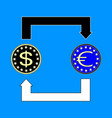 currency exchange symbols dollar euro signs vector image