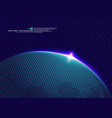 earth space globe planet with blue rays vector image vector image