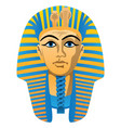egyptian golden pharaoh burial mask vector image