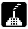 Factory symbol button vector image vector image