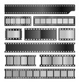 filmstrips realistic set film or photograph vector image vector image
