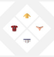 flat icon dress set of banyan underclothes vector image vector image