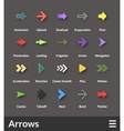 Flat material design icons set vector image vector image