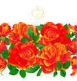 floral border seamless background orange rose vector image