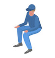 france man supporter icon isometric style vector image