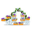 garden forged rack in the form of a vintage coach vector image vector image