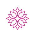 geometric lotus flower logo vector image