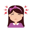 girl expression face vector image