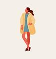 girl in coat vector image vector image