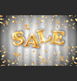 gold sale balloons background on grey curtain vector image vector image