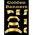 Golden Banners Set vector image