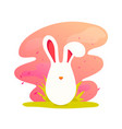 happy easter cute cartoon easter bunny vector image