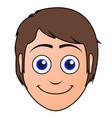 happy man avatar vector image vector image