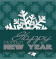 holiday card with snowflakes and says vector image vector image
