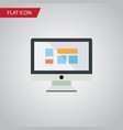 isolated monitor flat icon display element vector image vector image