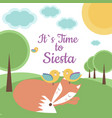 its time to siesta vector image vector image