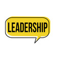 leadership speech bubble vector image vector image