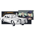 limousine driver meets businessman at airport vector image vector image