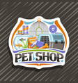 logo for pet shop vector image vector image