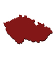 Map of the Czech Republic vector image vector image