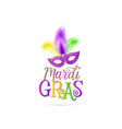 mardi gras text sign vector image