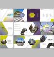 minimal brochure templates with hexagonal design vector image vector image