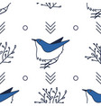 modern abstract seamless pattern blue and white vector image