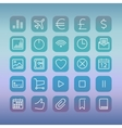 Modern user interface line icons pixels perfect vector image vector image