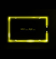 neon frame background yellow color border sign vector image vector image